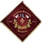Fahne der freiwilligen Feuerwehr Kirchberg (Vorderseite)