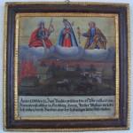 Votivtafel in der Kirche Kirchberg, die den Brand des Anwesens beim Mesner in Kirchberg im Jahr 1790 beschreibt
